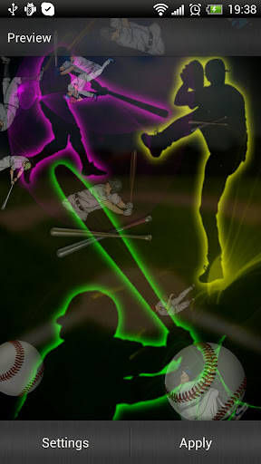Baseball Live Wallpaper Screenshots