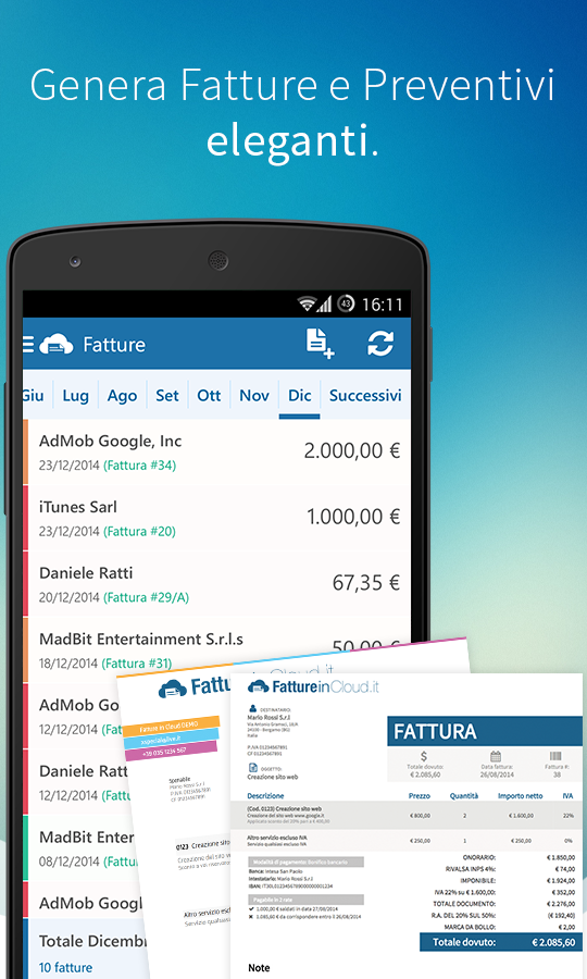 Fatture In Cloud- screenshot