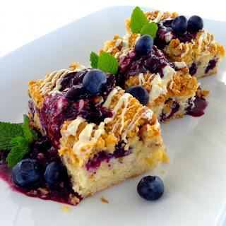 White Chocolate Walnut Blueberry Bars.