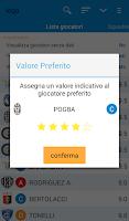 Screenshot of Gestore Asta Fantacalcio
