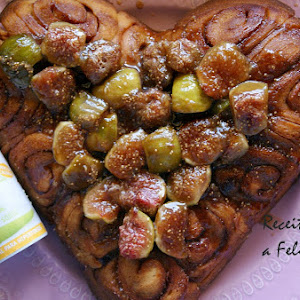 Cinnamon Heart with Figs syrup