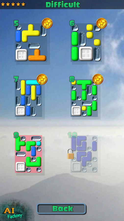 Sticky Blocks Sliding Puzzle - screenshot