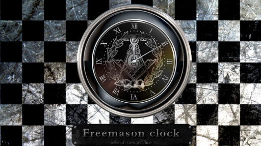フリーメイソンアラーム機能付きアナログ時計ウィジェット5