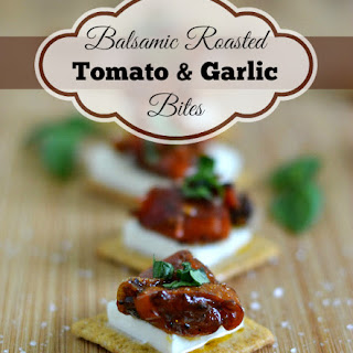 Roasted Balsamic Tomato Garlic Bites #TriscuitSnackoff