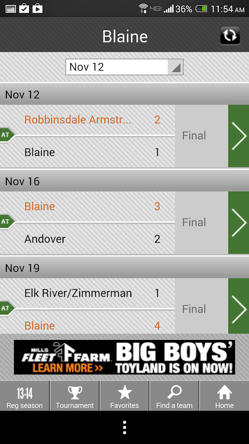 Girls' Hockey Scoreboard- screenshot