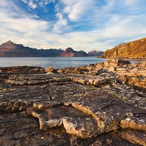 COAST Elgol (Isle of Skye) by Evžen Takač - Landscapes Travel ( clouds, scotland, mountains, sea, travel, coast, isle of skye, sun )