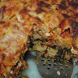 Turkey-Spinach Lasagna.