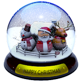 3D Christmas Advent Snowglobe