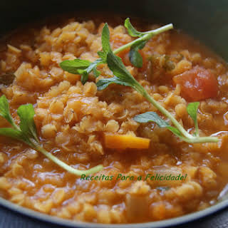 Red Lentil Stew Scented with Pennyroyal.