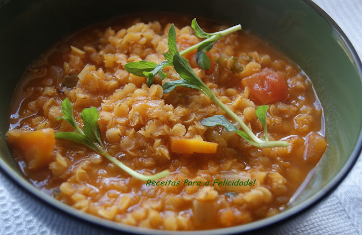 Red Lentil Stew Scented with Pennyroyal