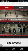 Screenshot of One Direction