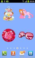 Screenshot of 100 pink stickers
