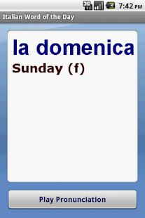 Italian Word of the Day - screenshot thumbnail