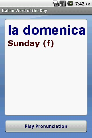 Italian Word of the Day - screenshot