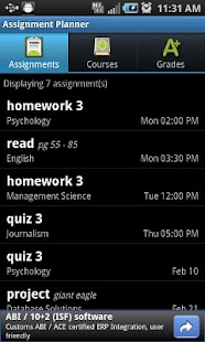 Assignment Planner FREE- screenshot thumbnail