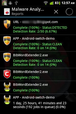 Malware Analyzer for Android ( Anubis, NVT, URLVoid & Comodo, All in