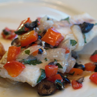 Baked Cod And Peppers.