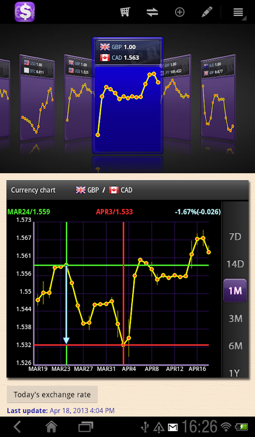 aCurrency Pad for tablet - screenshot