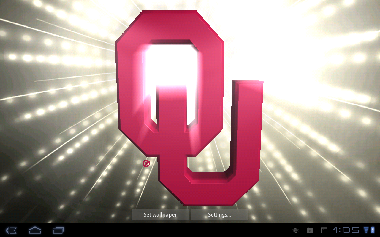 Oklahoma Sooners Pix & Tone - screenshot