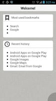 Screenshot of Browser for Android