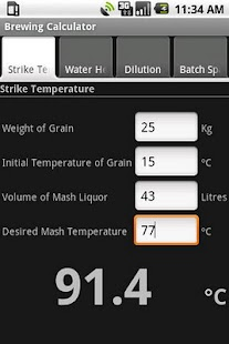 Brewing Calculator - screenshot thumbnail