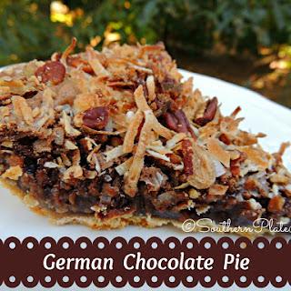 German Chocolate Pie.