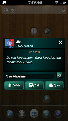 Simply Green GO SMS theme
