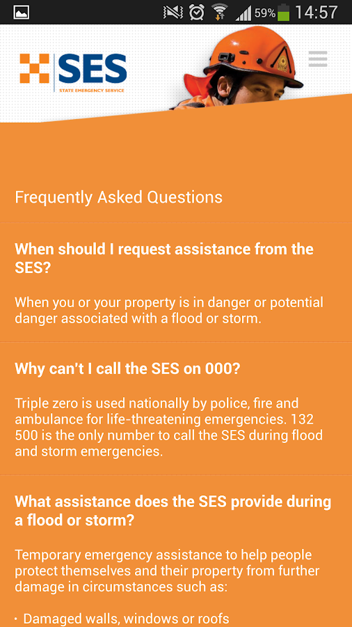 SES Assistance QLD- screenshot