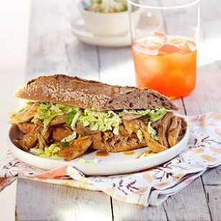Slow-Cooker Red Curry Pulled-Pork Sandwiches.