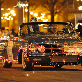 Christmas Parade Ride by Roy Walter - Public Holidays Christmas ( lights, holiday, christmas, night, christmas parade )