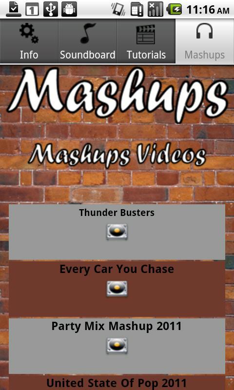 Mashups- screenshot