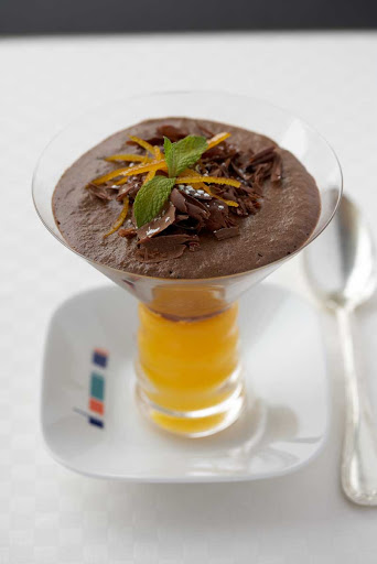 Bistro5_chocolate_mousse - A silky smooth orange chocolate mousse is one of the perennial favorites at Celebrity Cruises's Bistro on Five.