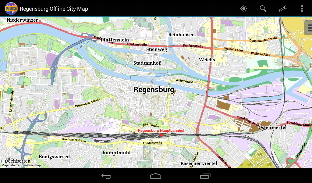 Regensburg Offline City Map- screenshot