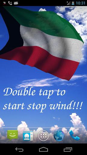 3D Kuwait Flag Live Wallpaper