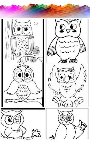Happy Owl Coloring