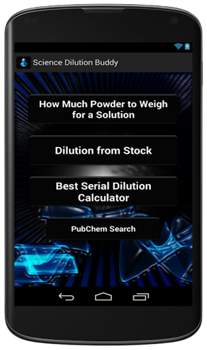Solution Dilution Calc Buddy