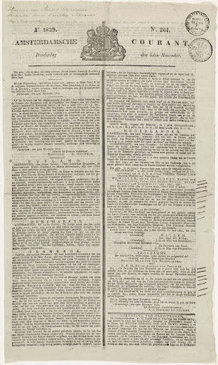 Amsterdamsche Courant van 5 november 1829