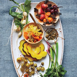 Pickle-Dressed Acorn Squash and Beets.