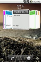 Screenshot of Up Next 3D Calendar Widget