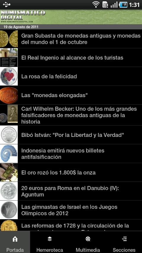 NumismaticoDigital- screenshot