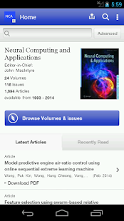 Neural Computing Applications- screenshot thumbnail