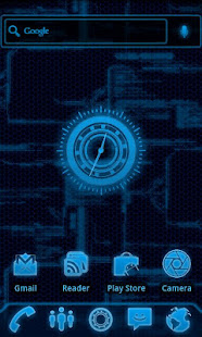 Blueprint tech clock widget apps on google play screenshot image malvernweather Image collections