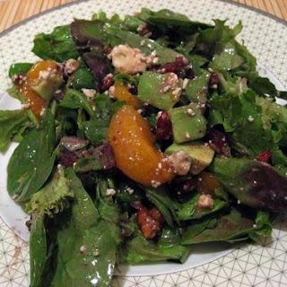 Cranberry, Glazed Walnut, Orange, Avocado, Blue Cheese Salad.