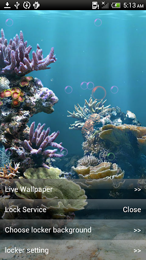 Live Aquarium Lock Wallpaper