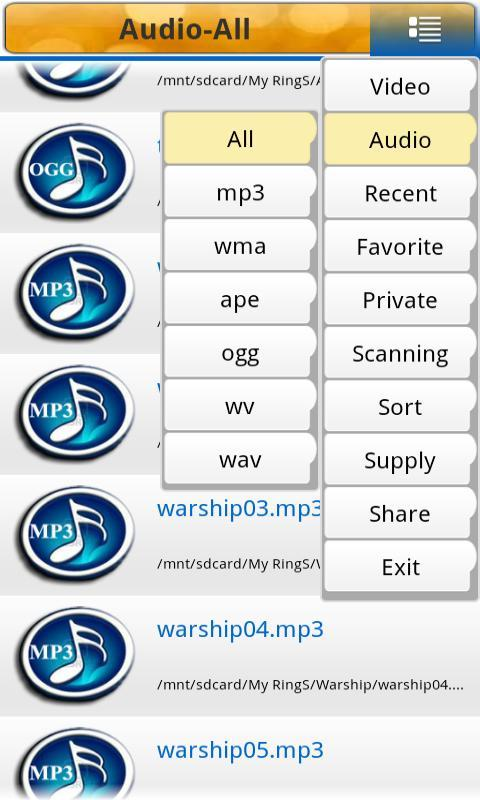 Best Mp3 Mp4 Media Player - screenshot