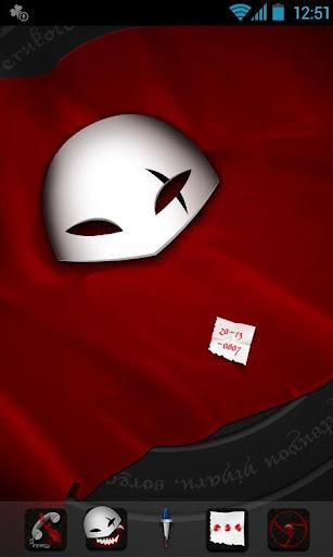 Blood Mask GO Launcher Theme