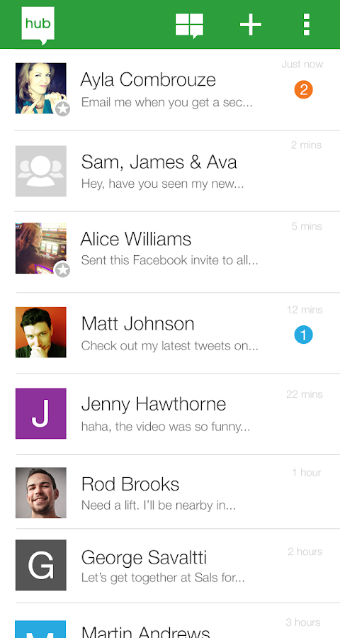 MessageHub™ (Social+Email+SMS)- screenshot