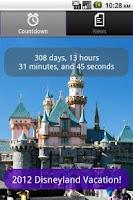 Screenshot of Disneyland Vacation Countdown
