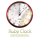 7月誕生石ルビー【アナログ時計ウィジェット】 icon