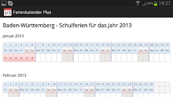 Screenshot of Ferienkalender Plus +